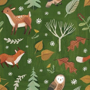 Woodland Creature Repeat (Large scale)