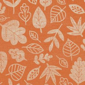 orange leaves fall autumn