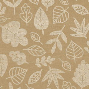 tan leaves fall