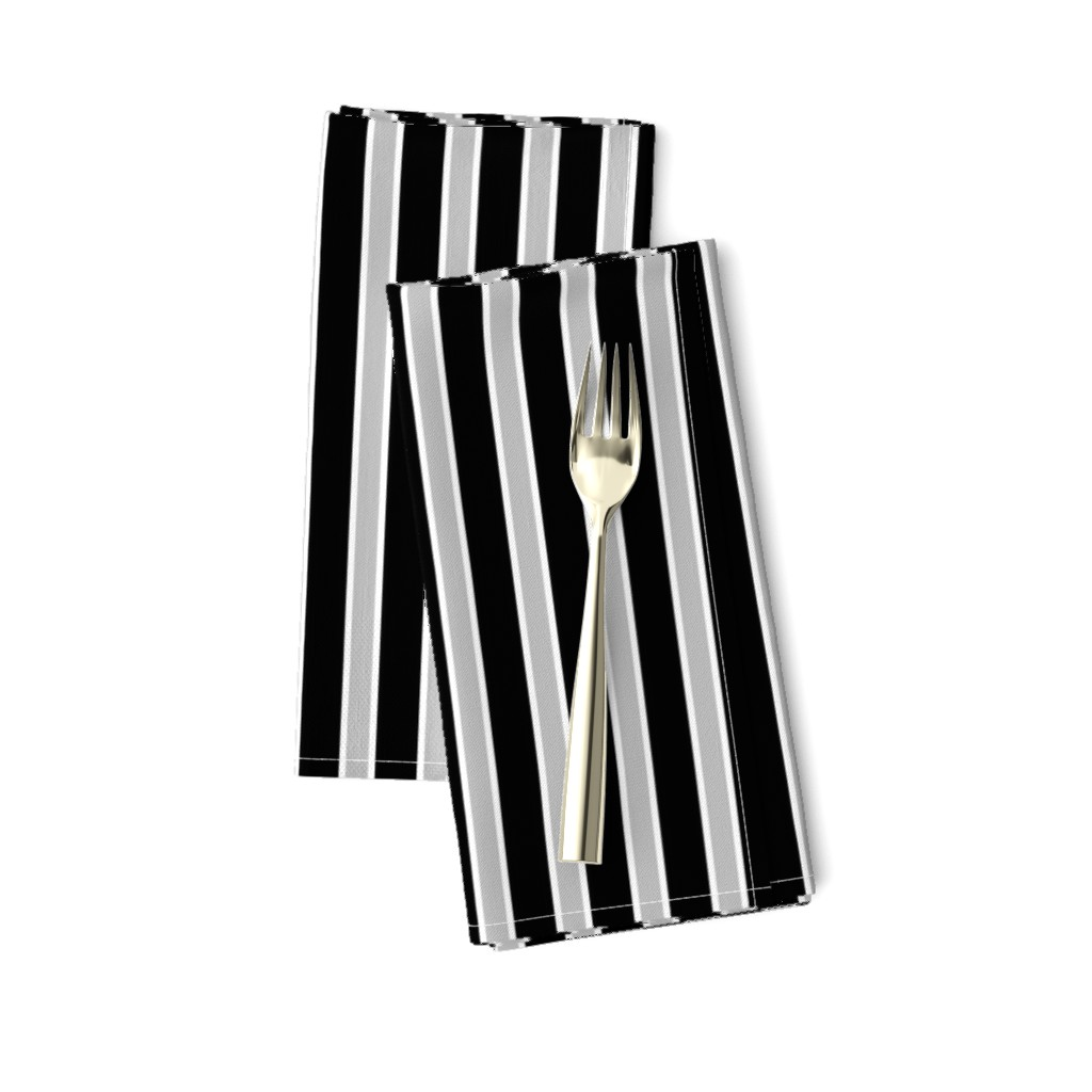 Amarela Dinner Napkins featuring Black, White and Grey Stripes by kerri_lisa_