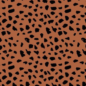 Pastel love brush spots and ink dots hand drawn modern animal print furs  illustration pattern scandinavian style pattern in copper neutral black