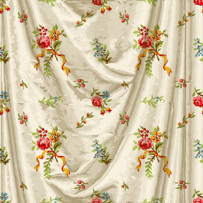 Belvedere Floral Ditsy ~ Trompe l'Oeil Drapery