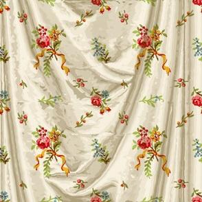 Belvedere Floral Ditsy ~ Trompe l'Oeil Drapery