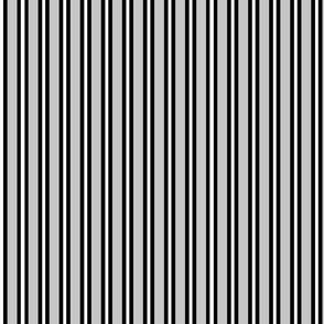 Medium Black and White Stripes on Grey