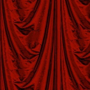 Trompe l'Oeil Drapery ~ Turkey Red
