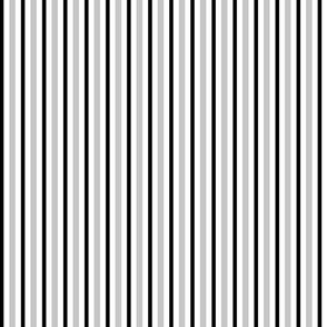 Medium Black and Grey Stripes on White