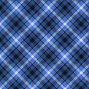 Custom Blue Apple Plaid