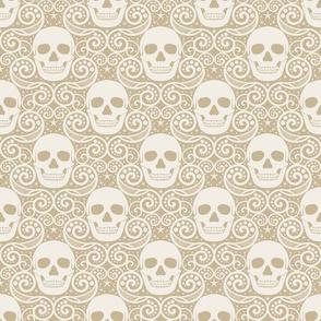Skulls, swirls and stars-large
