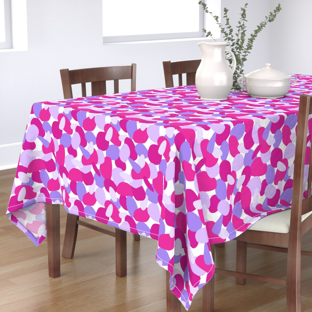 Bantam Rectangular Tablecloth featuring Pebbles // Pink by thewellingtonboot