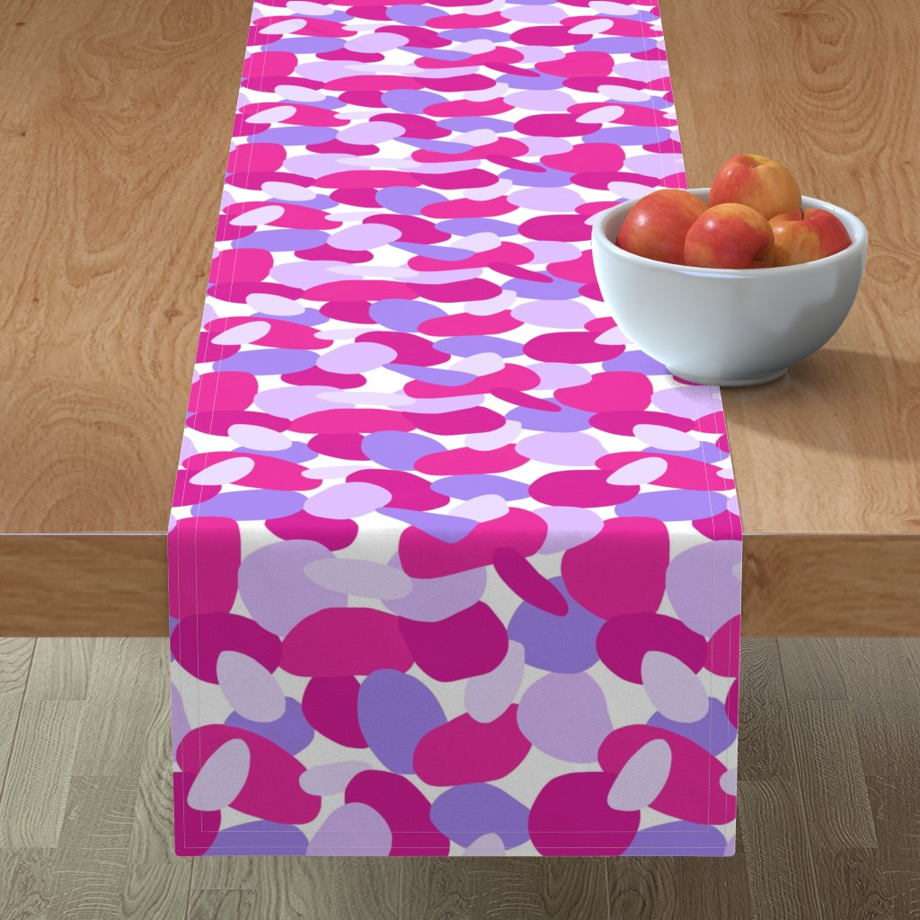 Minorca Table Runner featuring Pebbles // Pink by thewellingtonboot