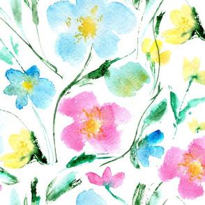 May in Miami • watercolor florals