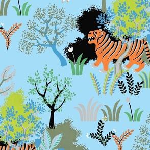 Tiger tiger (sky blue)