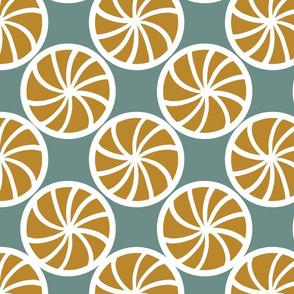 stylized lemon slices