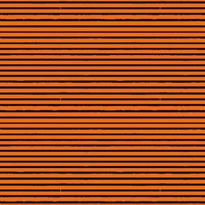 Pumpkin Orange and Black Tiger Stripes (horizontal)
