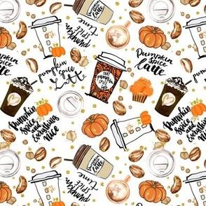 Pumpkin Spice Latte Coffee Fall cream