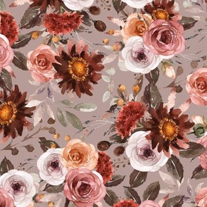 Riverlee Floral Taupe