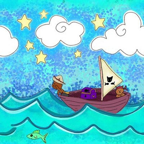 Pirate Kitties on the Open Sea