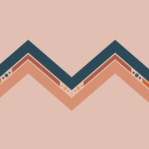 Dusty Pink and Navy Chevron