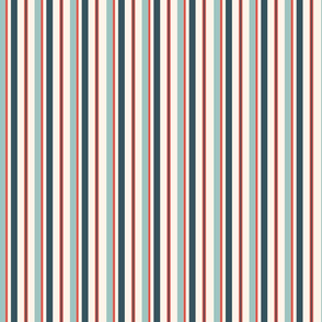 Pirate Red and Blue Stripes