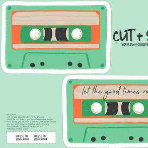 FQ Cut & Sew - Cassette Tape Cushion Pillow