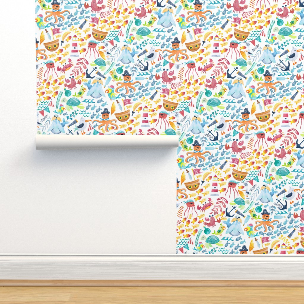 Isobar Durable Wallpaper featuring Pirate Pizzaz by gingerlique