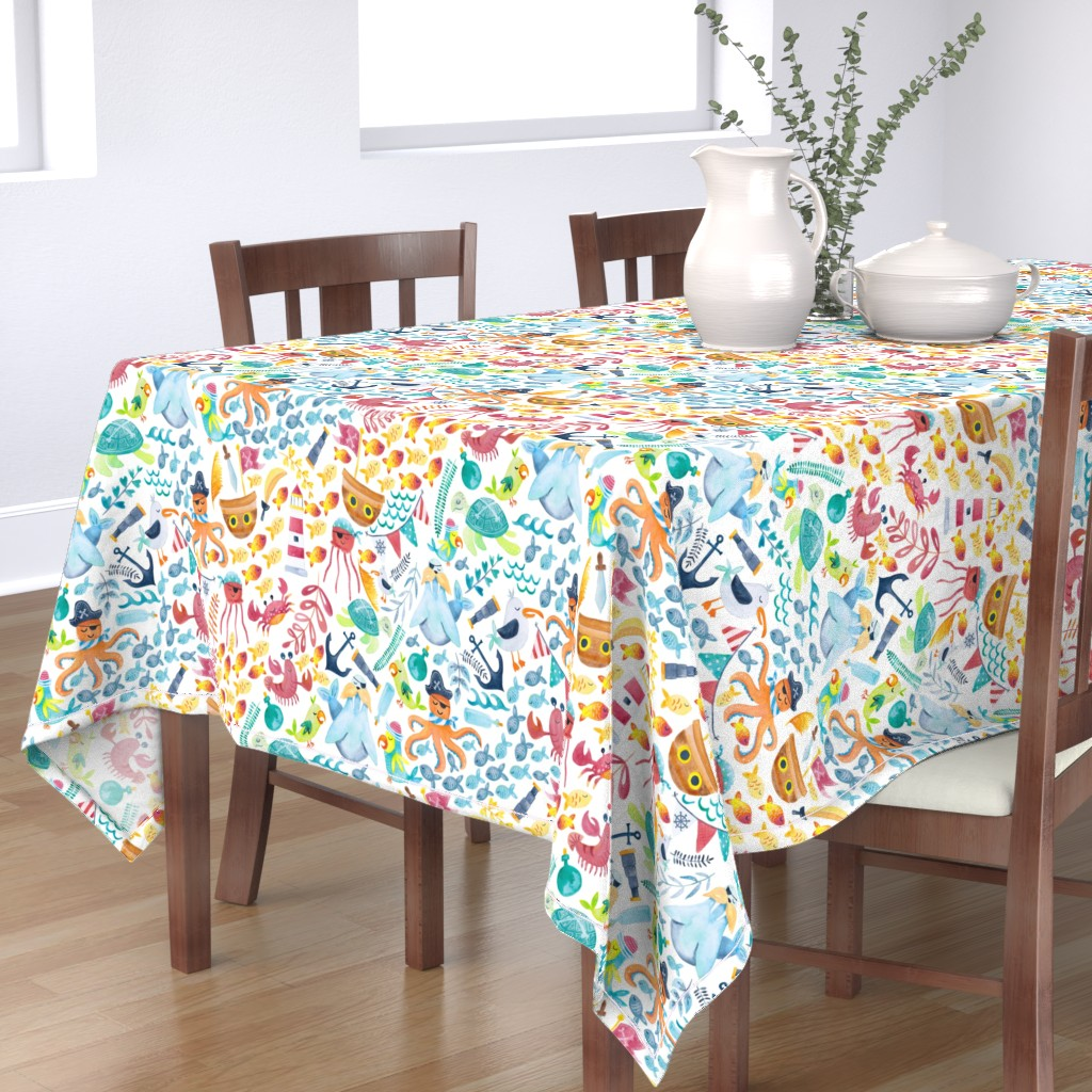 Bantam Rectangular Tablecloth featuring Pirate Pizzaz by gingerlique