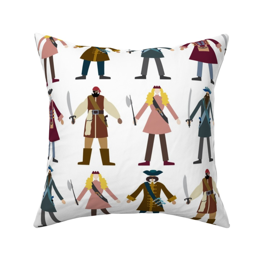Catalan Throw Pillow featuring Chic Pirates by twigged