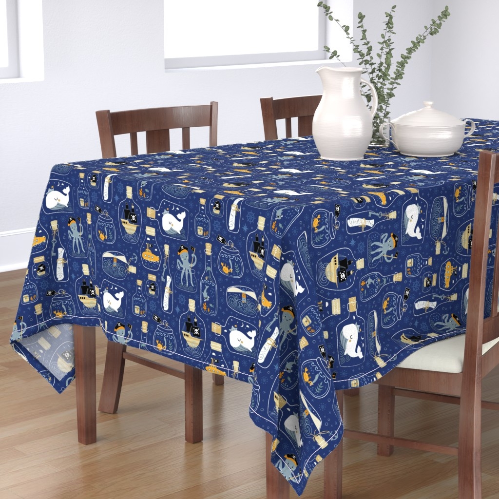 Bantam Rectangular Tablecloth featuring ☆ good night pirates tales ☆ by bamokreativ