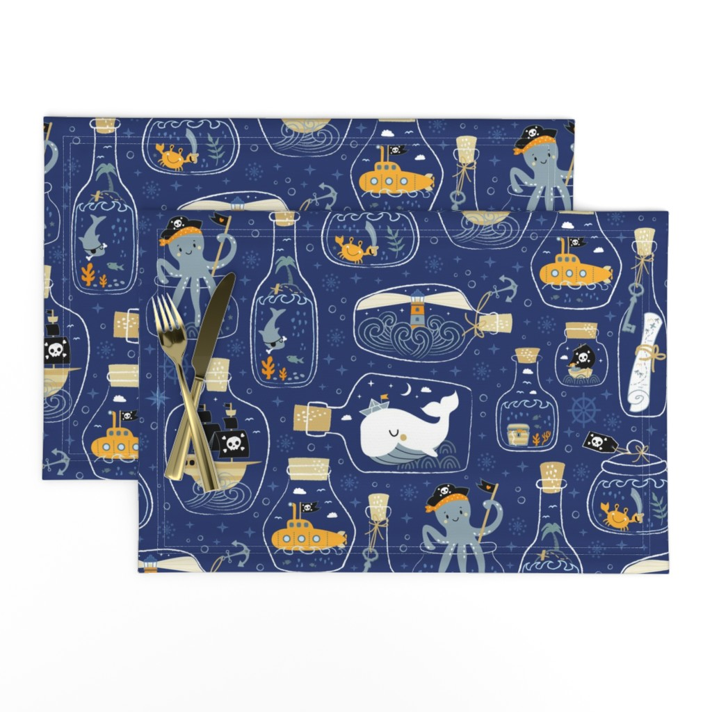 Lamona Cloth Placemats featuring ☆ good night pirates tales ☆ by bamokreativ