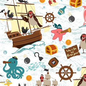 Ahoy Captain Sparrow and his Adventures- Large Scale