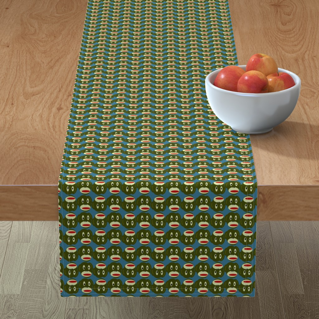 Minorca Table Runner featuring foonkie moonkie by giolou