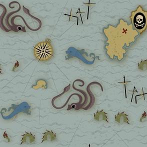 Vintage Pirate Map