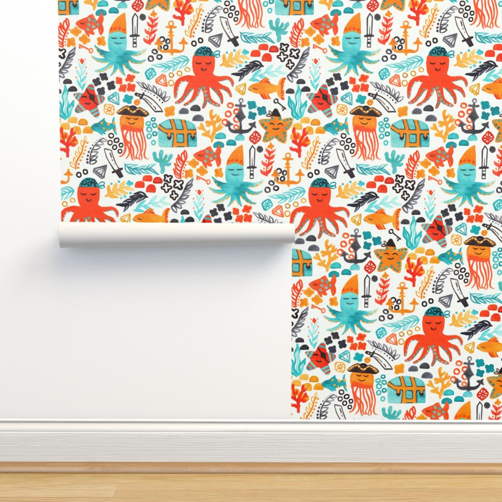 Isobar Durable Wallpaper featuring Pirates In The Deep (Large Version) by tigatiga