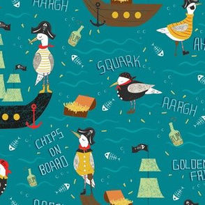 Pirate Gulls And Their Treasure Chips