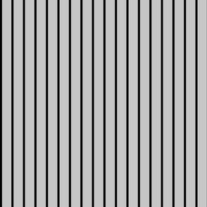Medium Black Stripes on Grey