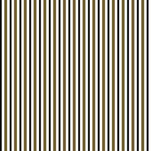 Medium Dark Olive, Black Stripes on White