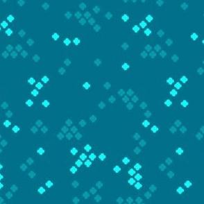 Geometric Cross Shapes - Blue 02