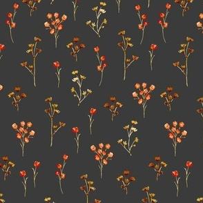 Watercolor Floral Filler Gray