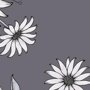Nostalgia Floral XL - mauvegrey