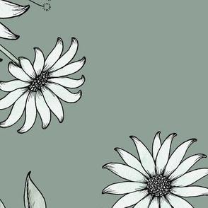 Nostalgia Floral XL - dusty green