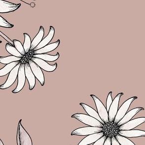 Nostalgia Floral XL - dusty pink