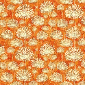 vintage orange dandelions50