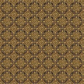 Bourgogne Tile ~ Faux Gilt Gold and Black ~ Wee