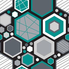 LARGE Hip Hexagons (Modern)