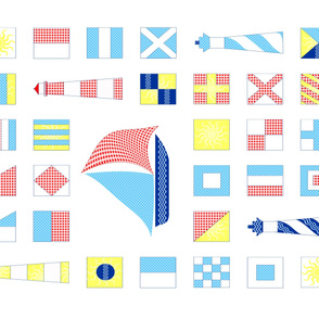 Whole cloth Nautical Quilt fabric