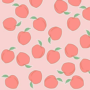 Peach Scatter on pink