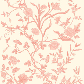 Tree of Life Chintz Reproduction ~ Pierina on Cosmic Latte