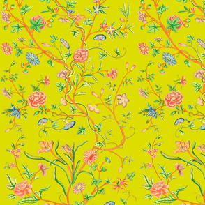 Tree of Life Chintz Reproduction ~ Very Bright on Dictator