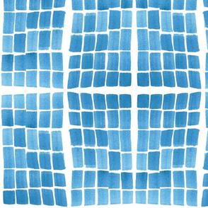 Not shibori - floating tiles - large