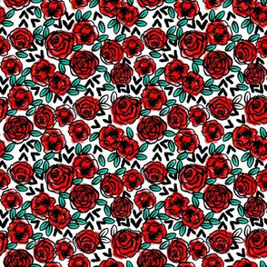 TINY  - roses // fashion illustration print for girls